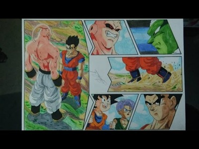 DRAGON BALL Z HOW TO DRAW GOHAN FACES MAJIN BUU DRAWING DIBUJO A LAPIZ 図 ごはん 魔人ブウ