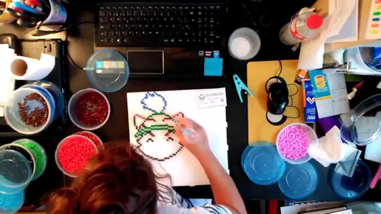 Kat&Hama Teemo LOL TimeLapse How I made it Hama beads