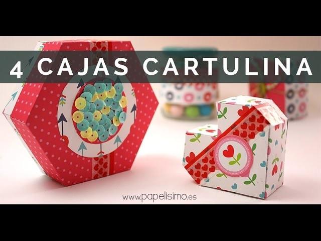 Manualidades con papel: Cajas de cartulina con plantillas