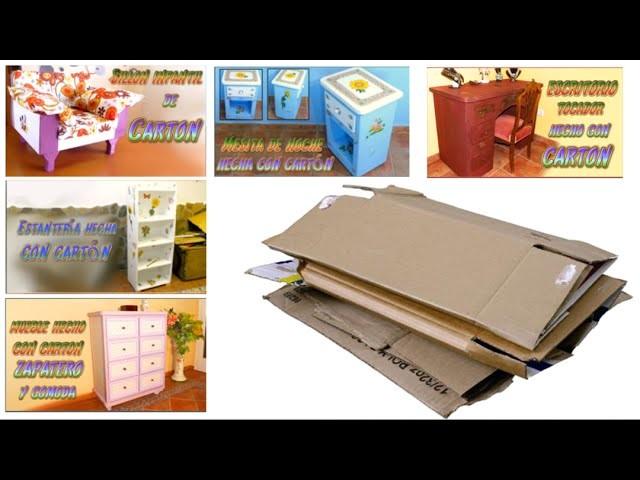 Muebles de cartón: que tipo de cartón se necesita y como conseguirlo a partir de cajas
