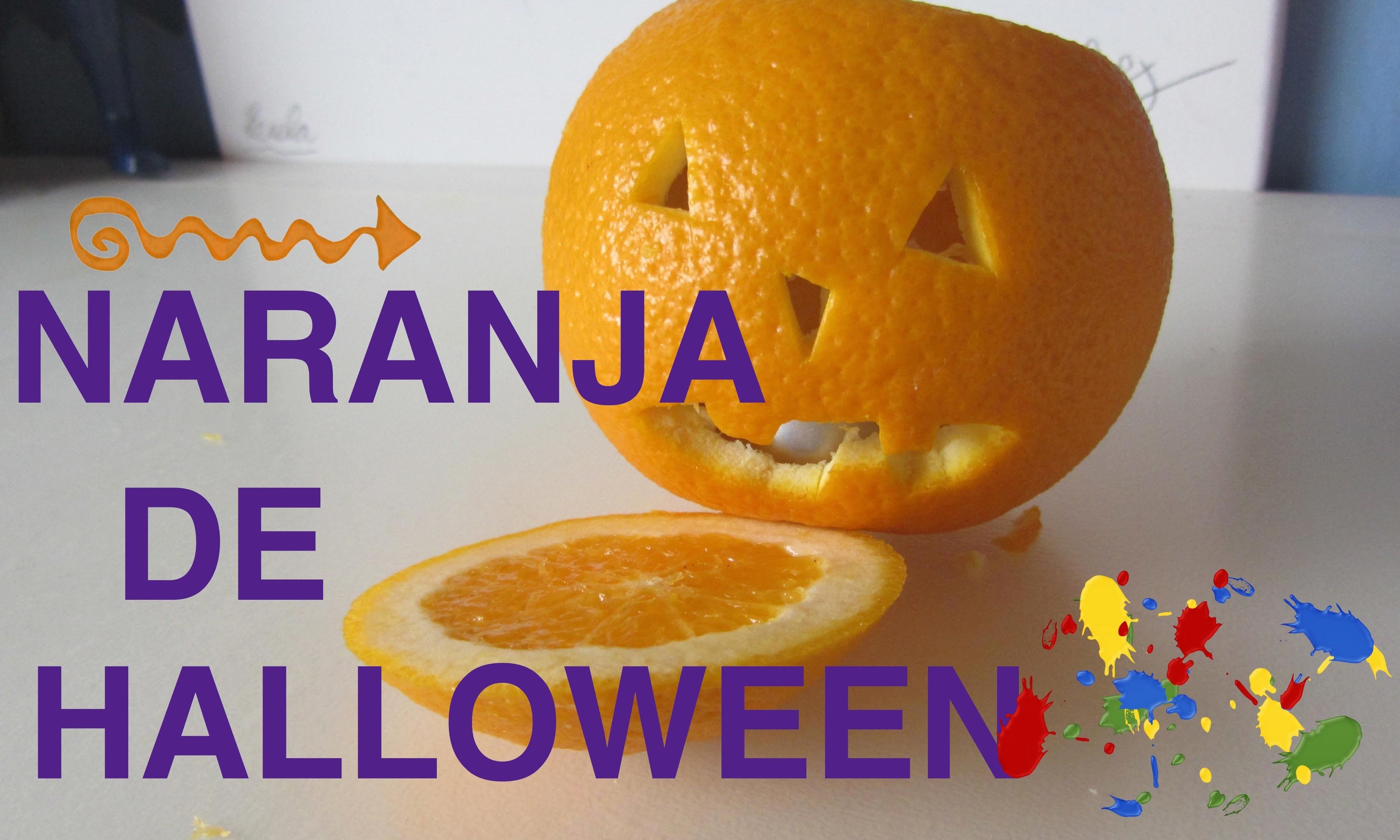 Naranja de halloween