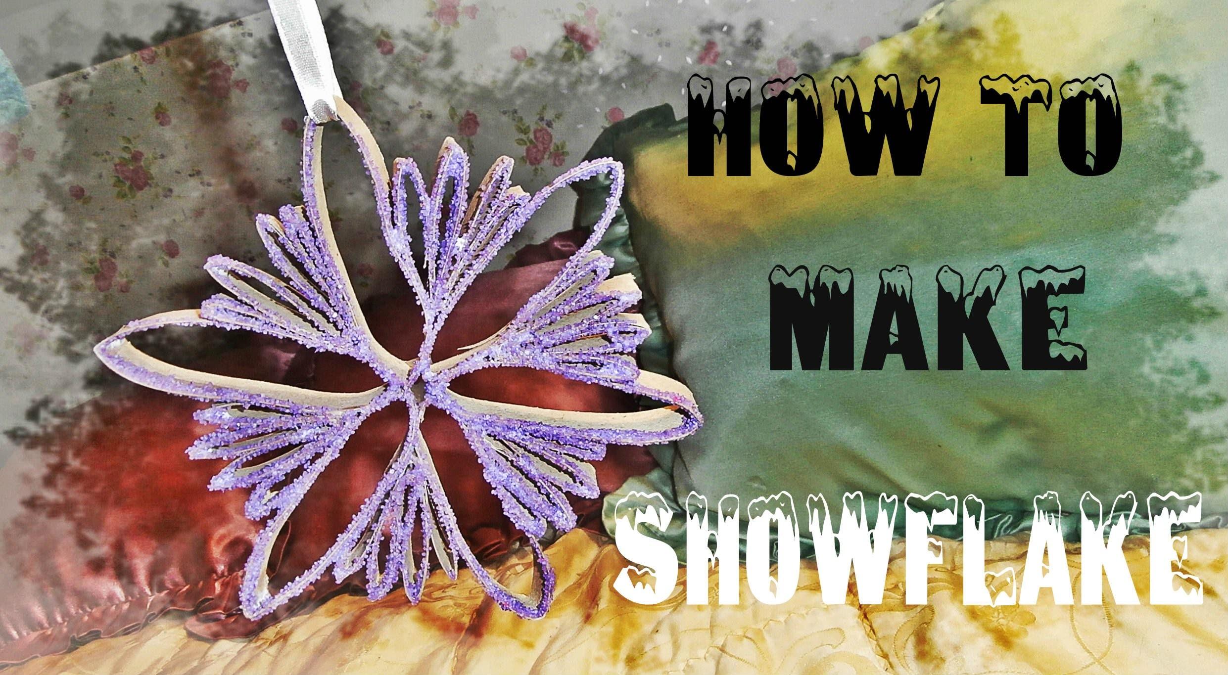 Novogodisnje dekoracije #6 Kako napraviti pahulju. DIY Snowflake. Copo de nieve