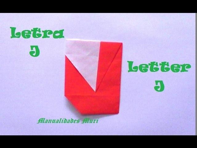 Origami - Papiroflexia. Abecedario muy fácil. Letra J