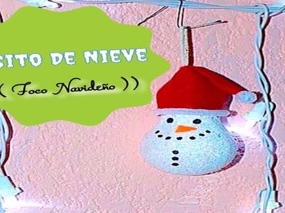 Osito De Nieve (( Foco Navideño ))