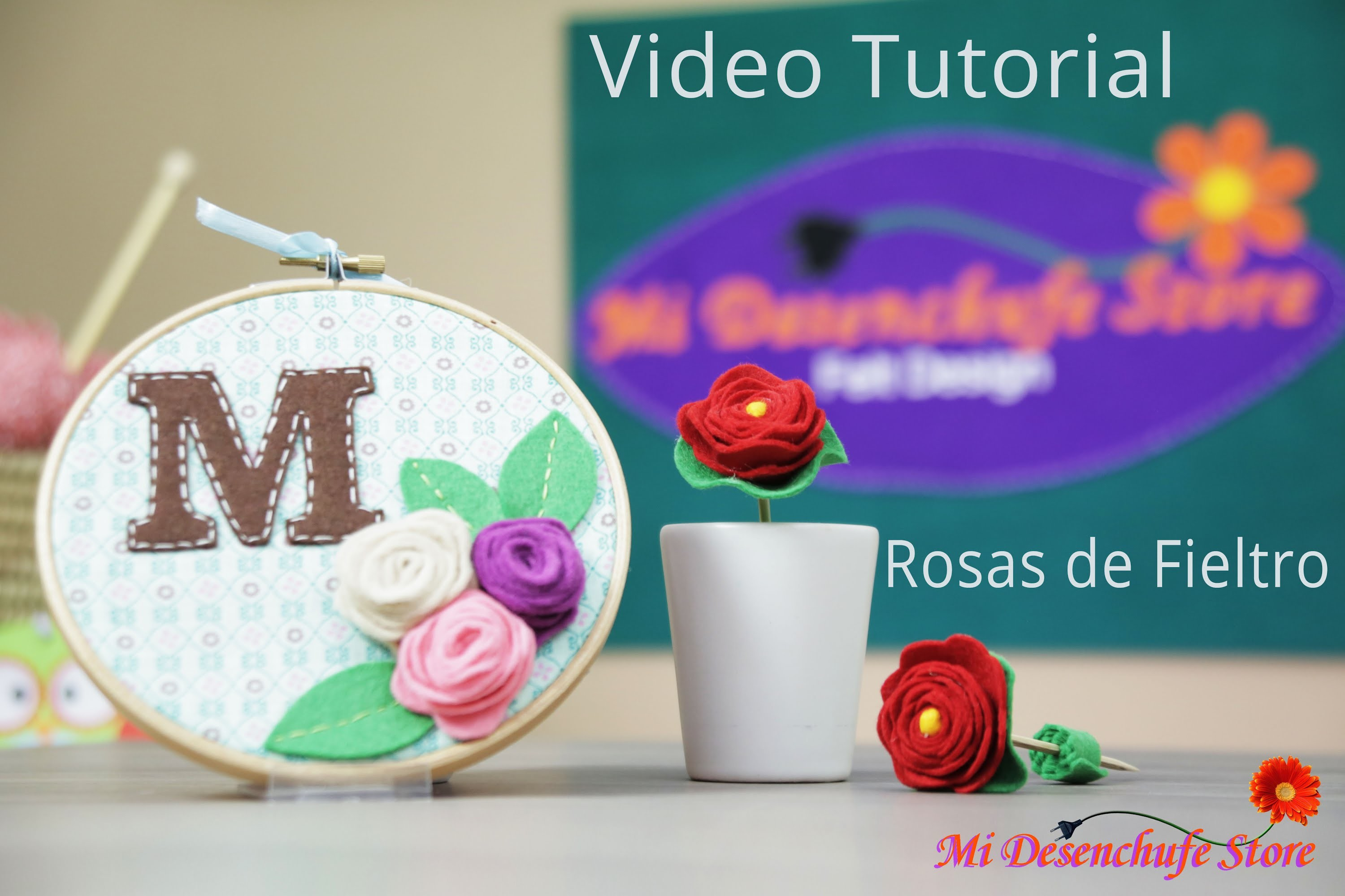 Tutorial #7 - Como hacer Rosas de Fieltro - How to make felt roses