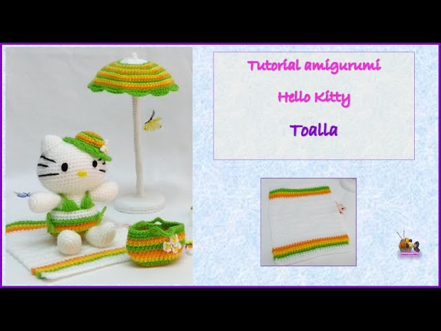Tutorial amigurumi Hello Kitty - Toalla
