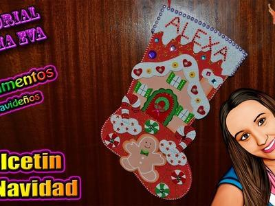 ♥ Tutorial: Calcetín de Navidad de Goma Eva (Foamy) ♥