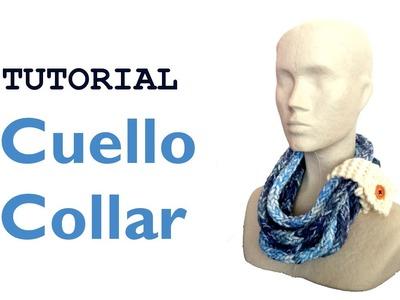 Tutorial para hacer un cuello collar [Tejer con telar]