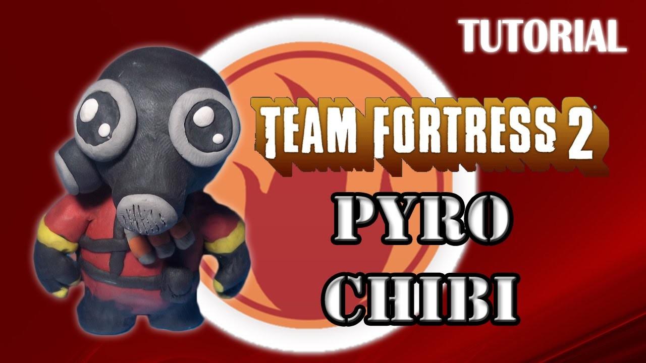 Tutorial Pyro Chibi en Plastilina. TF2. How to make a Pyro Chibi with Plasticine