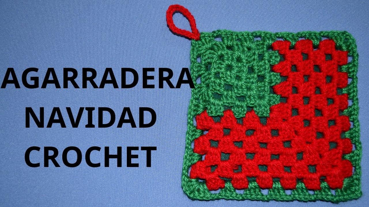Agarradera Navidad en tejido crochet tutorial paso a paso.