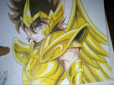 Como dibujar a Seiya Sagitario (pegaso). Drawing Seiya Sagitarius. How to draw Seiya.