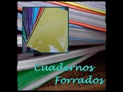 Como forrar un cuaderno  FACIL -CariCositas-