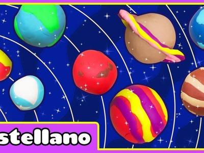 Como Hacer Planetas de Plastilina - Play Doh Planets by Hooplakidz Castellano
