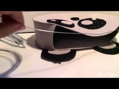 Como hacer un bolso de un panda (kawaii )