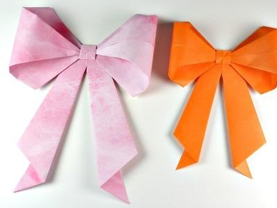 Cómo hacer un lazo de origami | Origami Bow | Mundo@Party