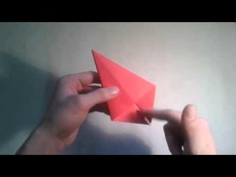 Como hacer un lirio de papel flor de origami   [Origami - Papiroflexia]