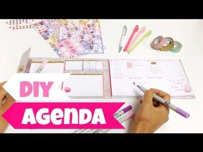 Como hacer una agenda FACIL y BONITA (libreta,block de notas)