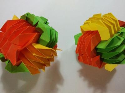 Como hacer una pelota modular de origami