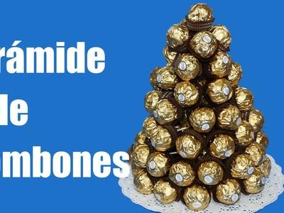 Cómo hacer una pirámide de bombones Ferrero Rocher