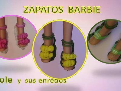 Cómo hacer unos  Zapatos para la muñeca Barbie  con gomitas elásticas 2
