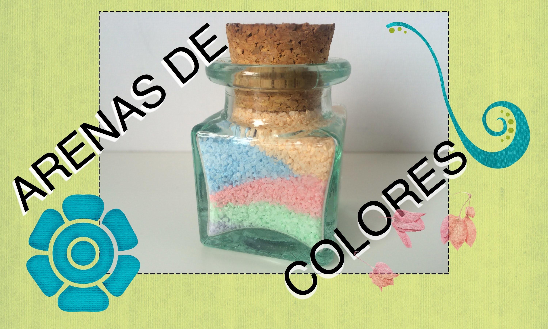 Decoración con arenas de colores