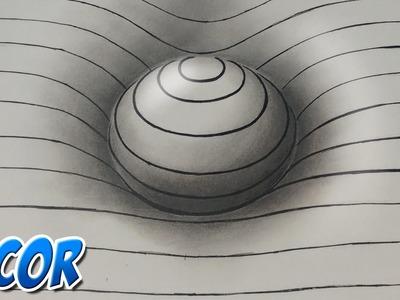 Dibujando Facil una Esfera 3D con Lineas