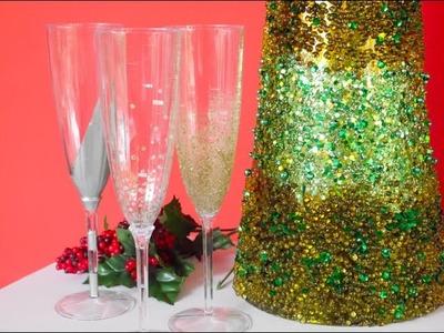 DIY- Copas de Champagne Decoradas. Decorate Champagne Flutes