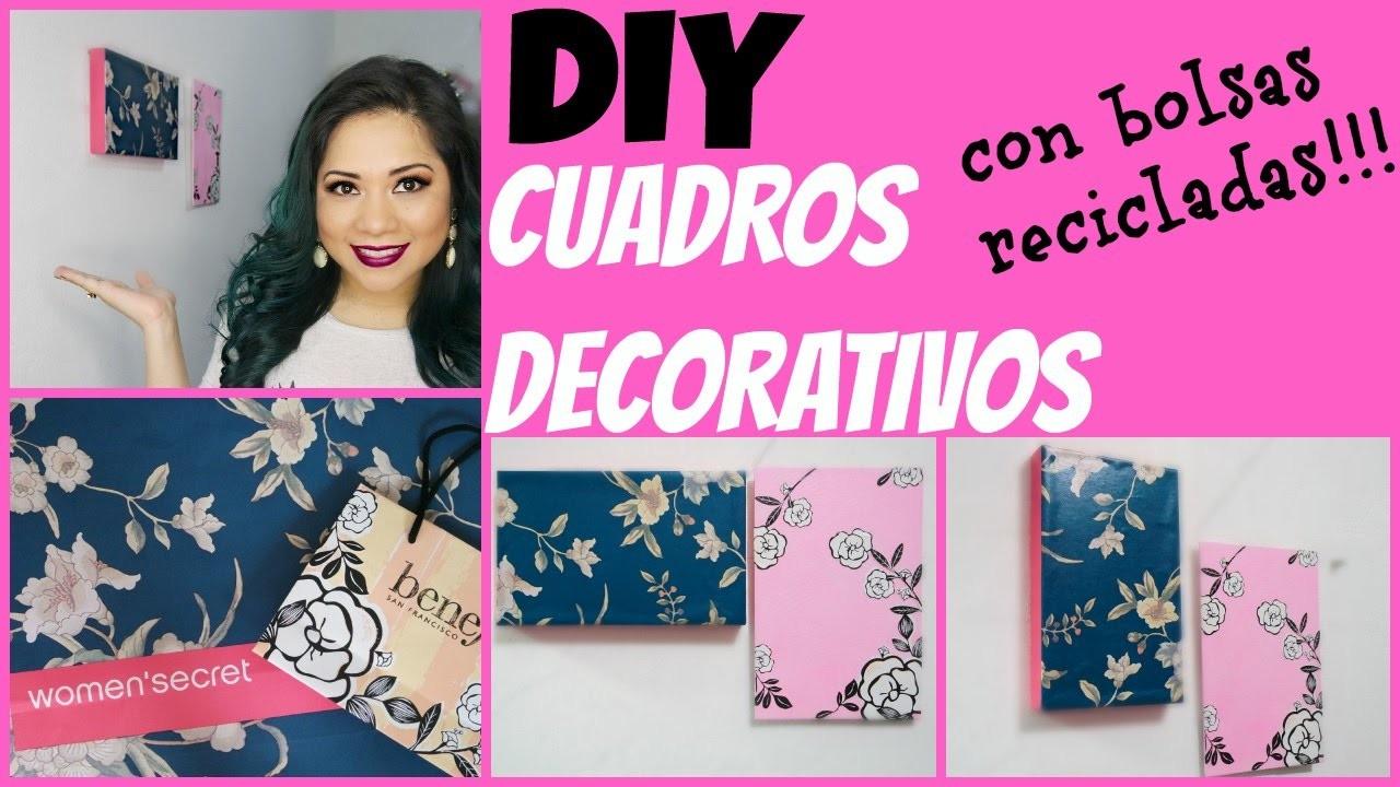 DIY: cuadros decorativos con bolsas benefit y women´s secret por Fantasticazul