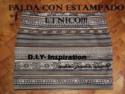 DIY: Falda con estampado etnico