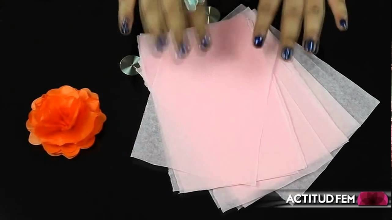 DIY    HTM Flores de papel de china, cómo hacerlas