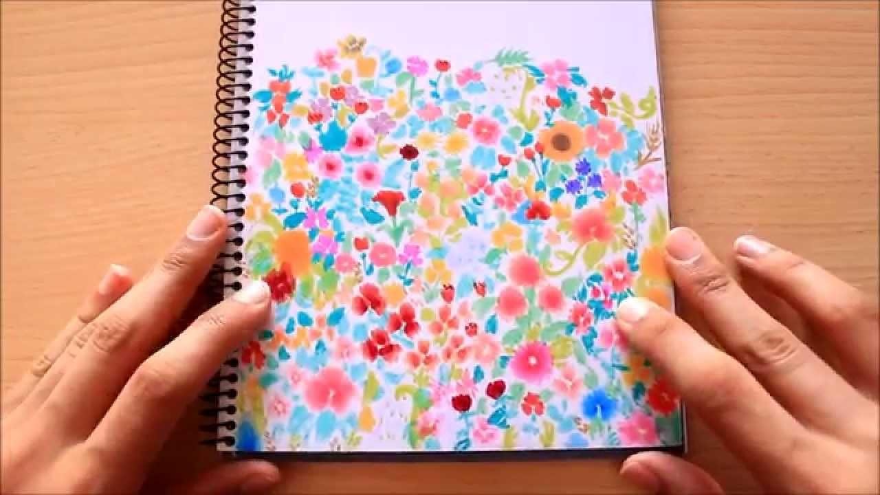 Estampado de flores con rotulador | Viajana Lejana