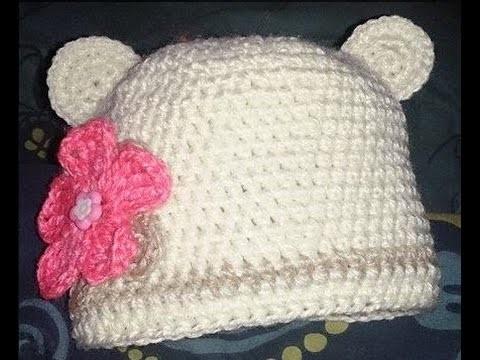 Gorro a crochet parte 2: tipo osito