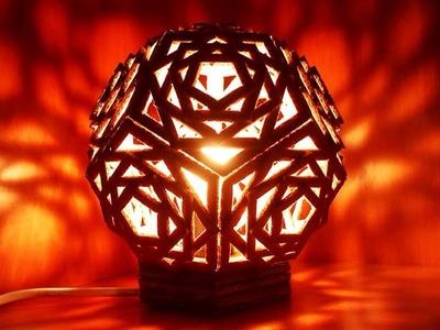 Haz una Preciosa Lámpara Geométrica de Cartón - Hazlo tu Mismo Hogar - Guidecentral