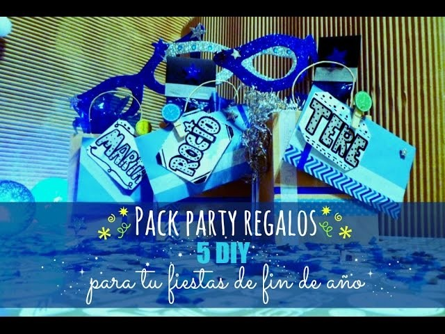 Manualidades: Pack Party 5 DIY para regalar en tu fiesta de fin de año