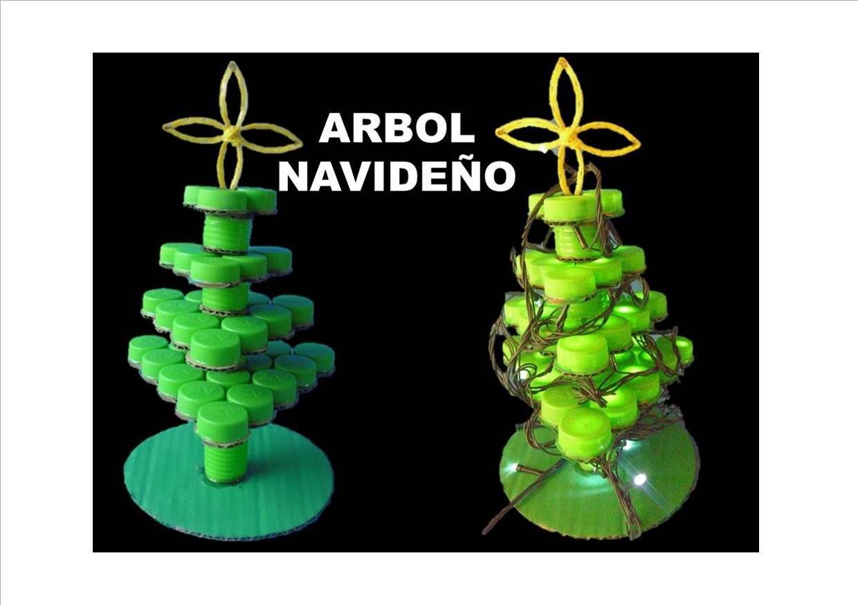 Manualidades para navidad. Árbol de navidad. RECICLAJE