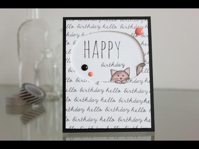 Masculine birthday card. Tarjeta de cumpleaños masculina