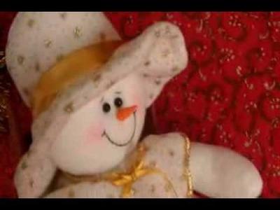 Muñecos Navideños: Muñequita de Nieve