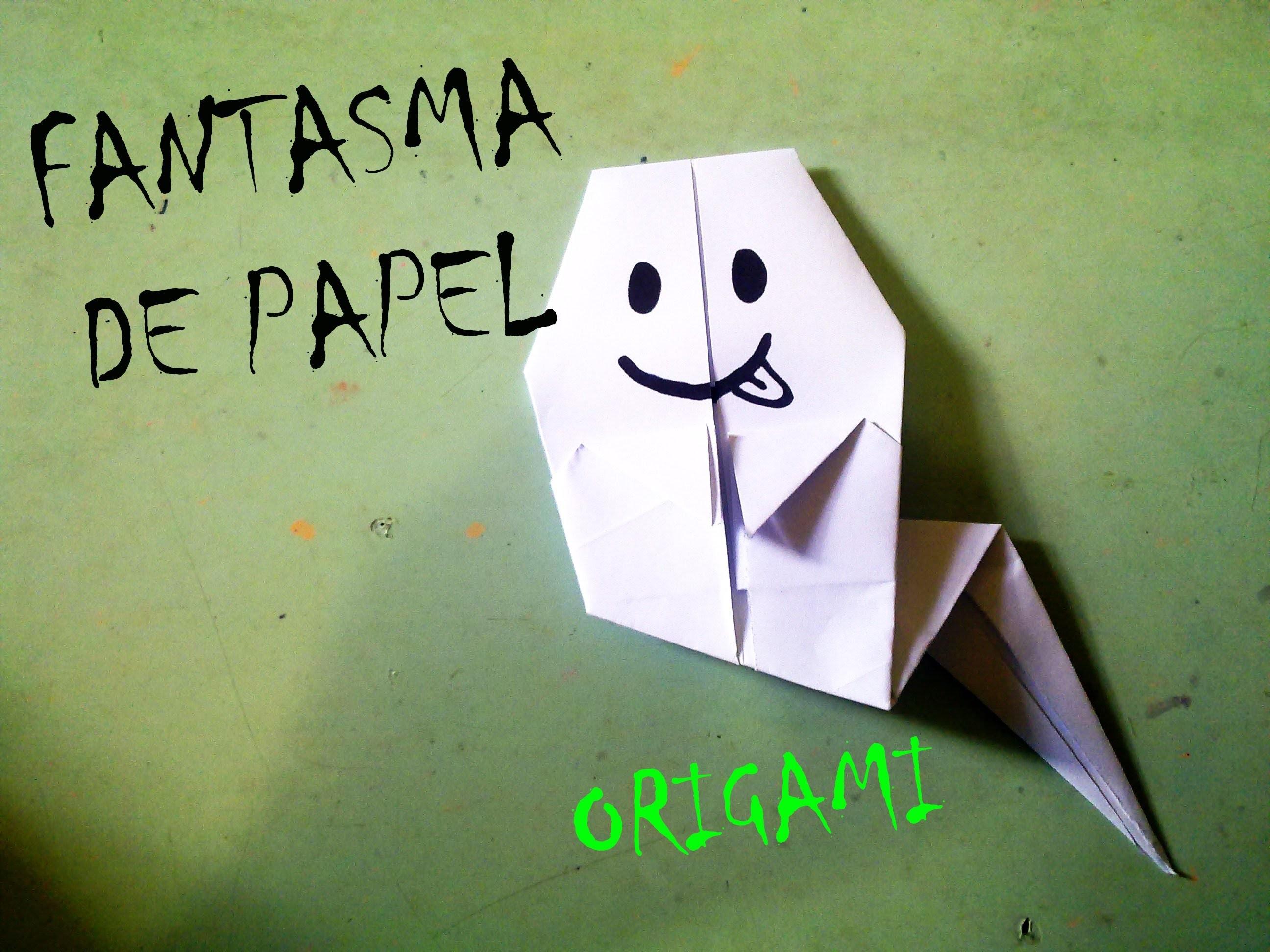ORIGAMI - FANTASMA DE PAPEL (HALLOWEEN)