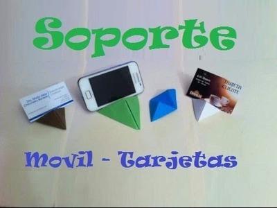 Origami - Papiroflexia. Soporte para tarjetas y móviles, muy fácil