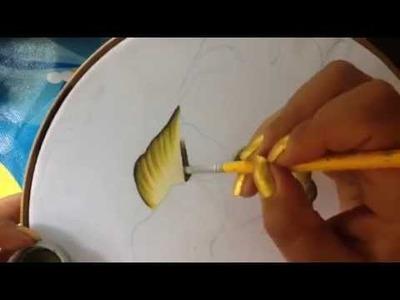 Pintura en tela carpeta tulipanes # 1 con cony