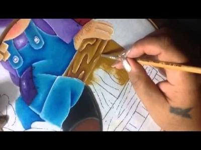 Pintura en tela Espantapajaros # 5 con cony