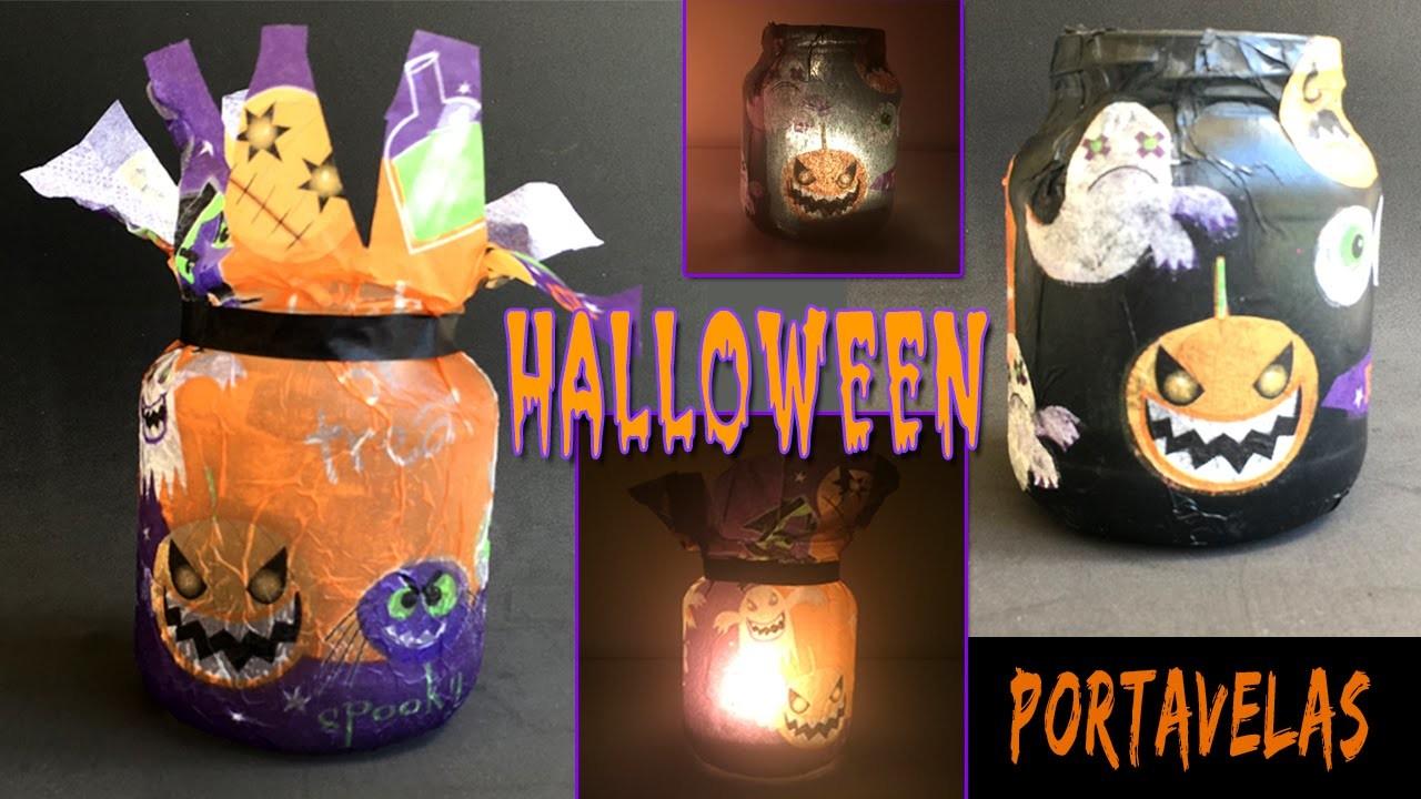 Portavelas de halloween * ¡2 modelos diferentes!