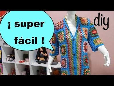 Suéter Abrigo Granny parte 1 #Ganchillo #Crochet Sweater #Diy