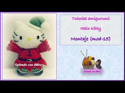 Tutorial amigurumi Hello Kitty - Montaje (mod-15)