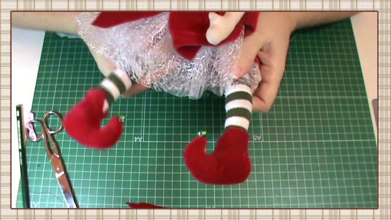 Tutorial Hada de la Navidad: Botas y complementos