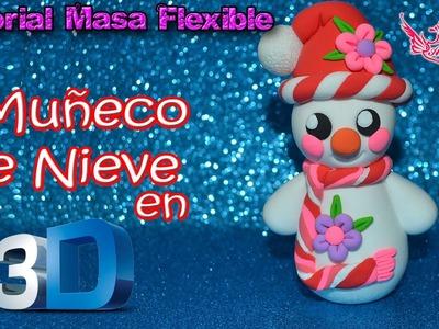 ♥ Tutorial: Muñeco de Nieve en 3D de Masa Flexible ♥