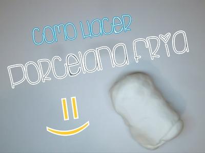Aprende hacer porcelana fria o pasta flexible, Muy Facil!!!.  Cold Porcelain