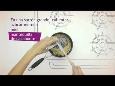 Barritas de cereales con fruta y frutos secos. Barritas de cereales Fitness de Nestlé
