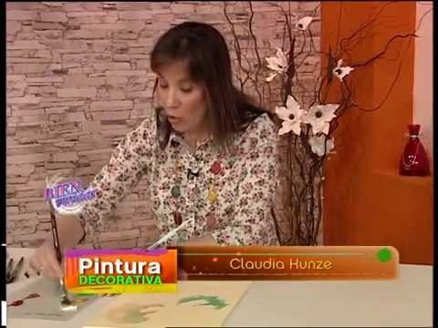 Claudia Kunze - Bienvenidas TV - Pinta un cuadro de Flor Estilo Vintage.