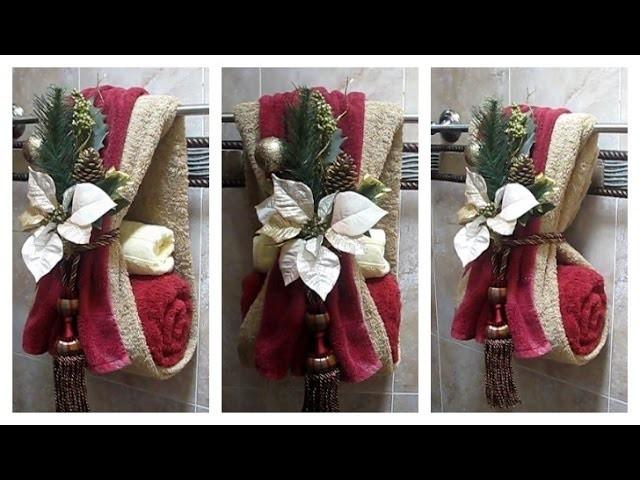 Como decorar las toallas de baño para navidad, fácil, sencillo y diferente!